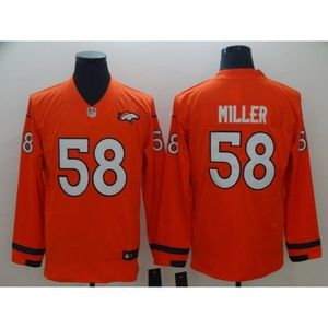 Denver Broncos Phillip Lindsay Long Sleeve Jersey